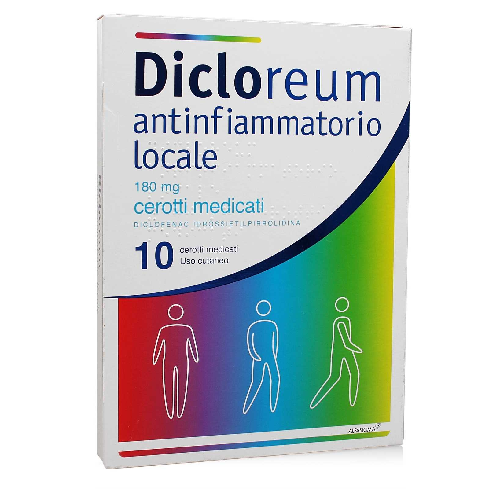 Dicloreum - Antinfiammatorio Locale - 10 cerotti