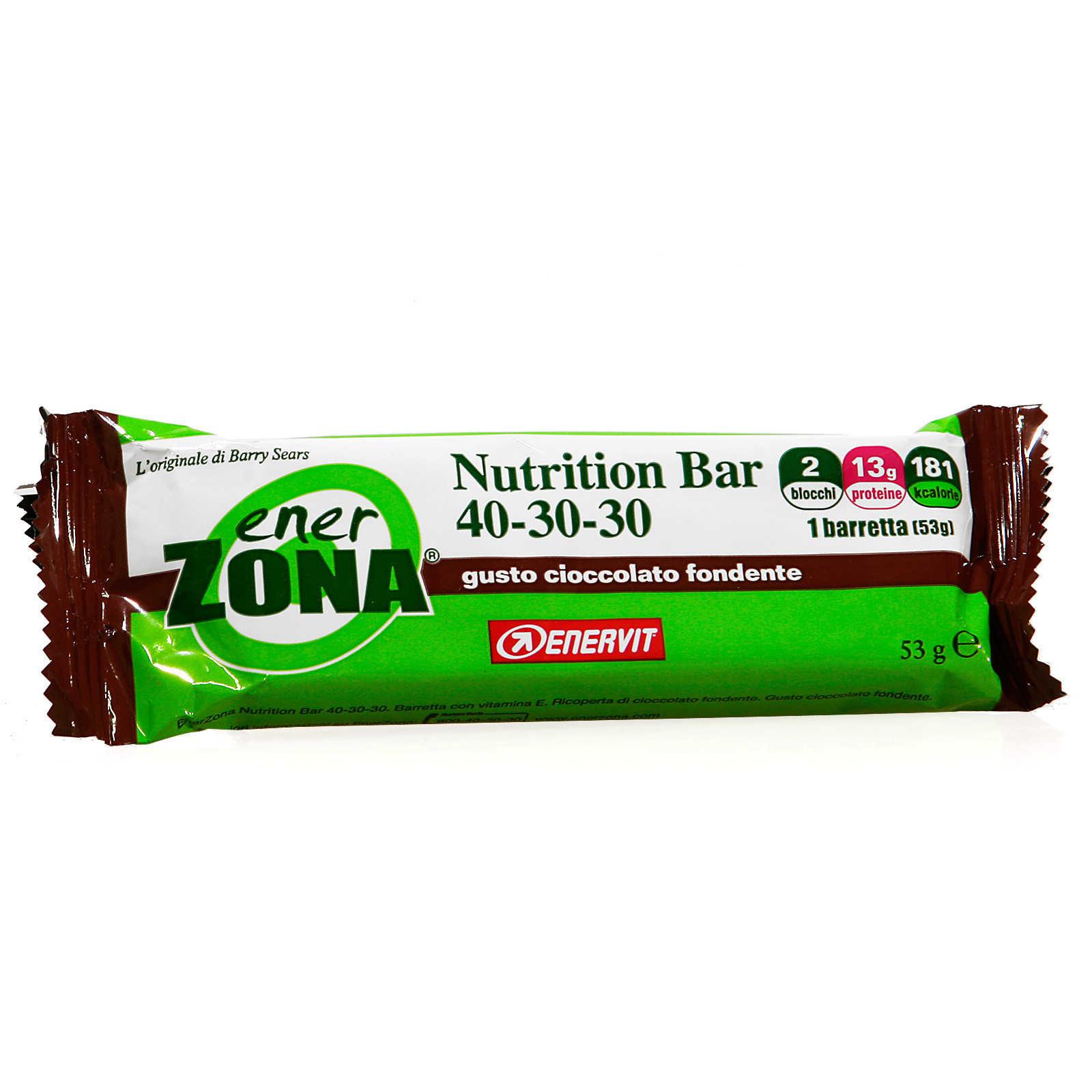 Enerzona Nutrition Bar - Cioccolato Fondente - 2 blocchi