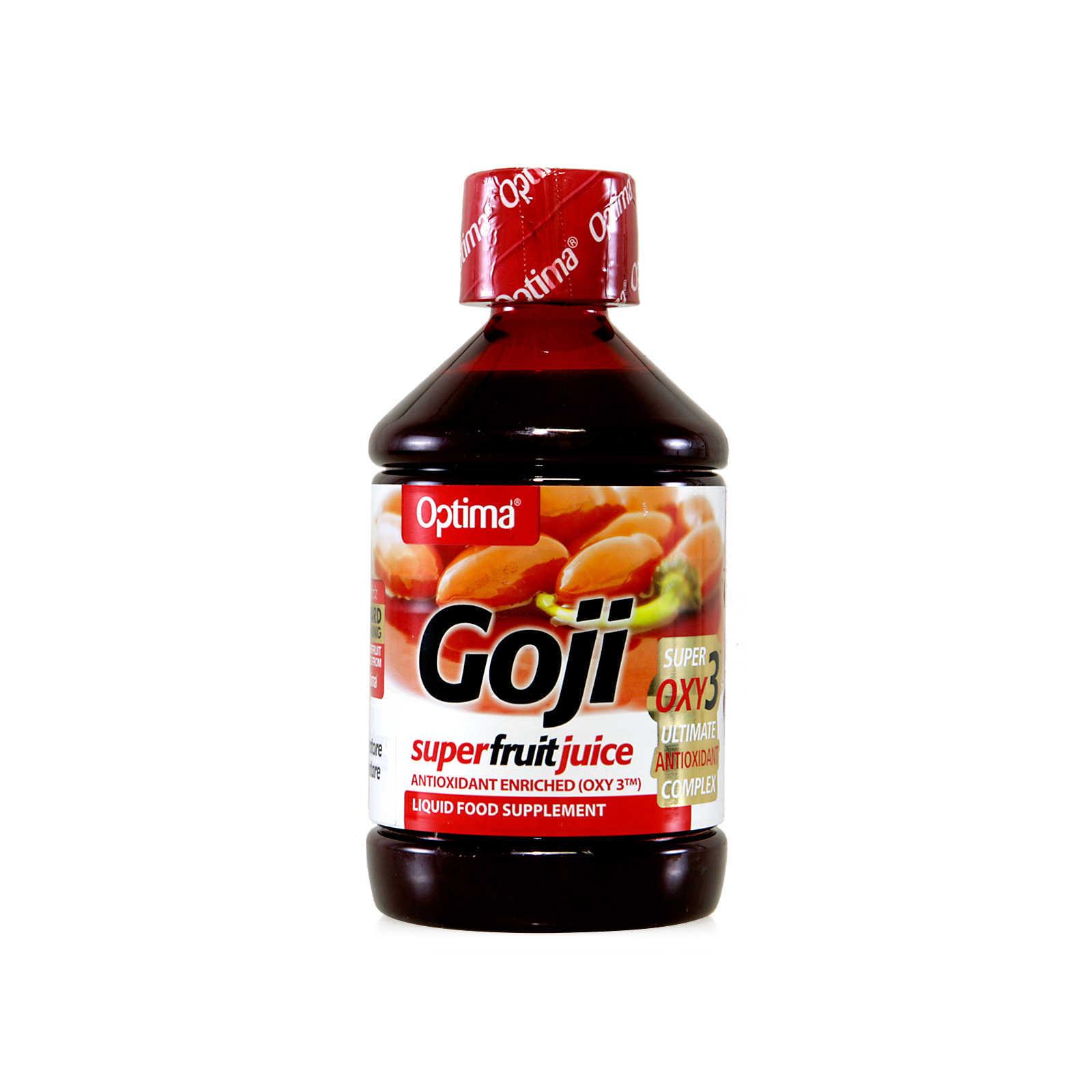 Optima - Integratore alimentare - Goji super fruit juice - con Oxy 3