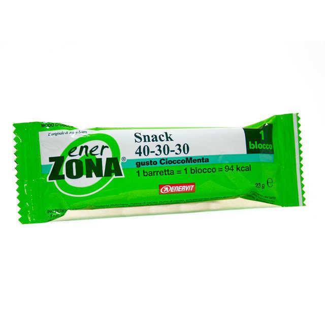 Enerzona - Barretta con Vitamina E gusto Cioccomenta - 1 blocco