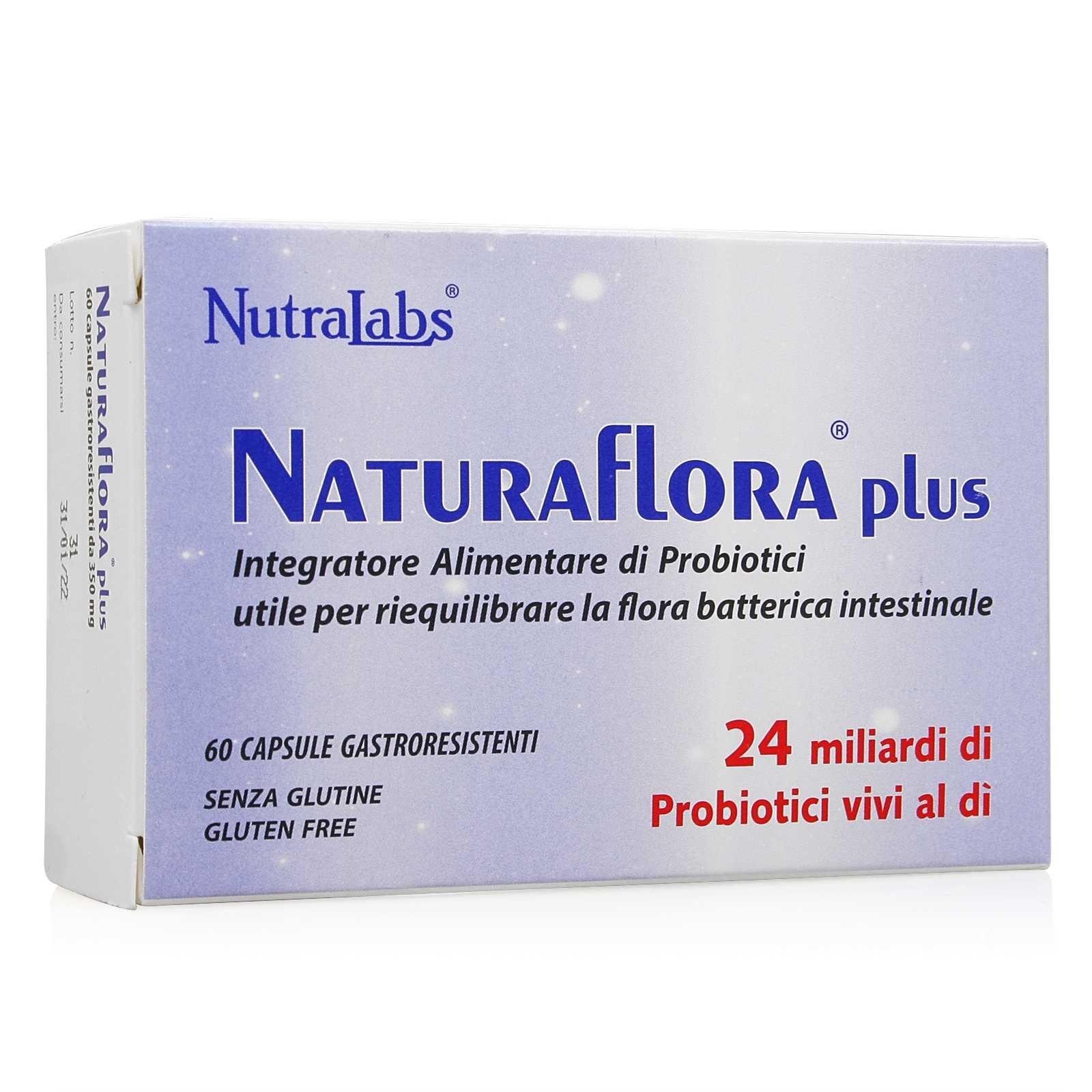 L'erba Buona - Probiotico per la flora batterica - Naturaflora Plus Capsule