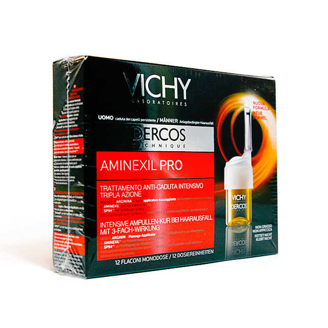Vichy - Aminexil Pro - Trattamento Anticaduta Uomo - 12 flaconi
