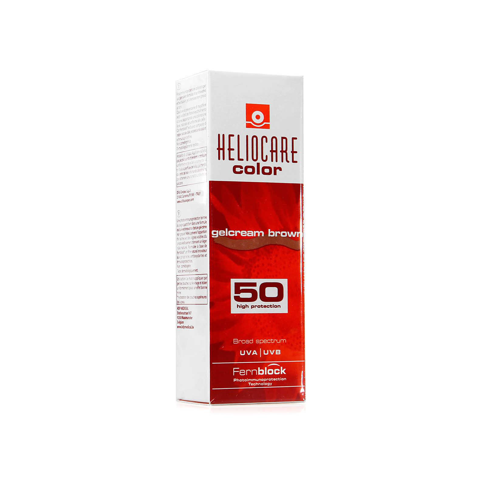 Heliocare - Crema Protezione Solare Color - Gelcream Brown SPF50