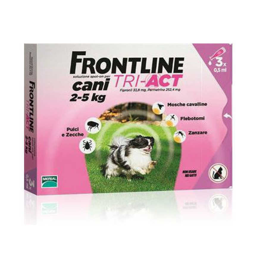 Frontline Combo - Tri Act - Cani 2-5 kg
