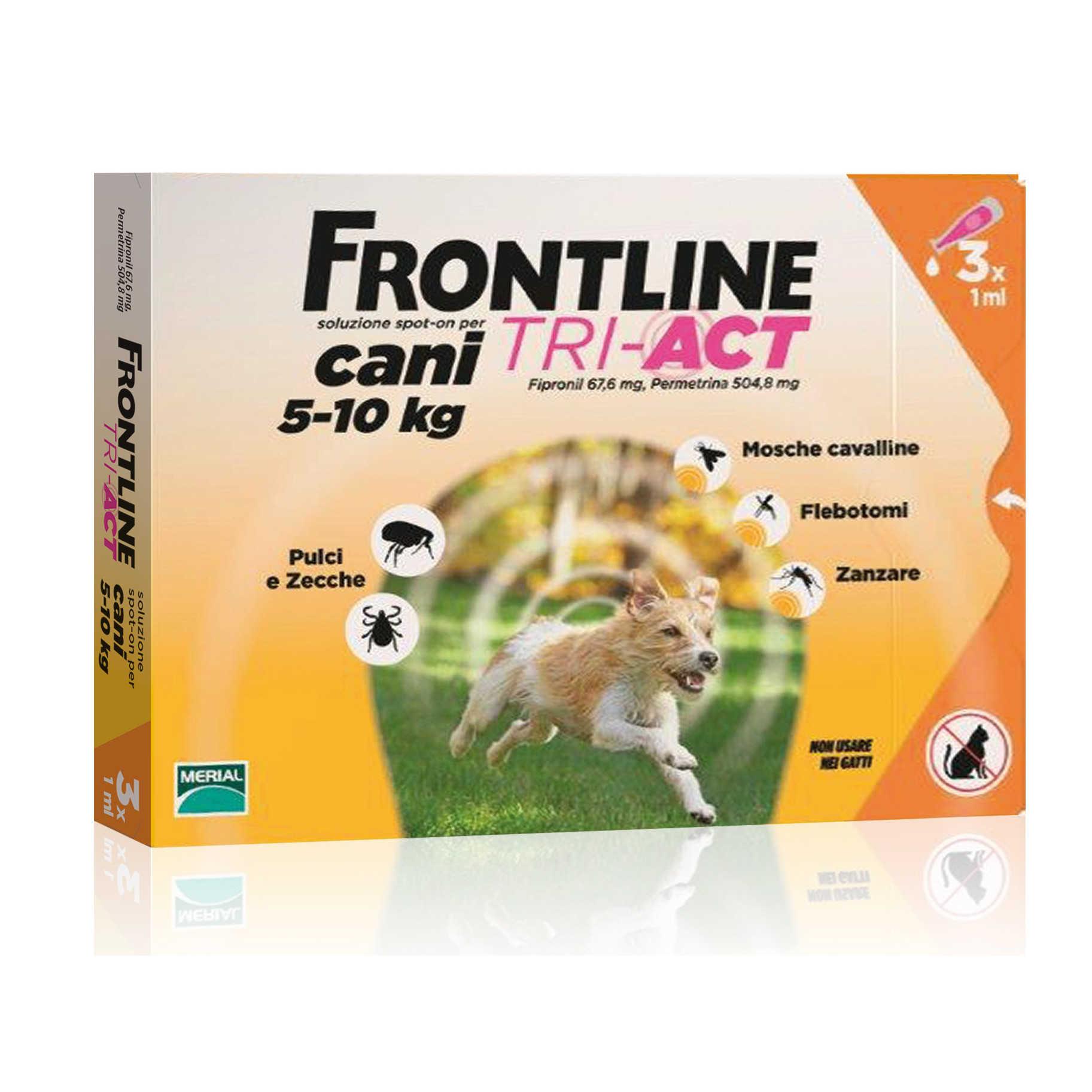 Frontline Combo - Atiparassitario per animali - Tri Act - Cani 5-10 kg