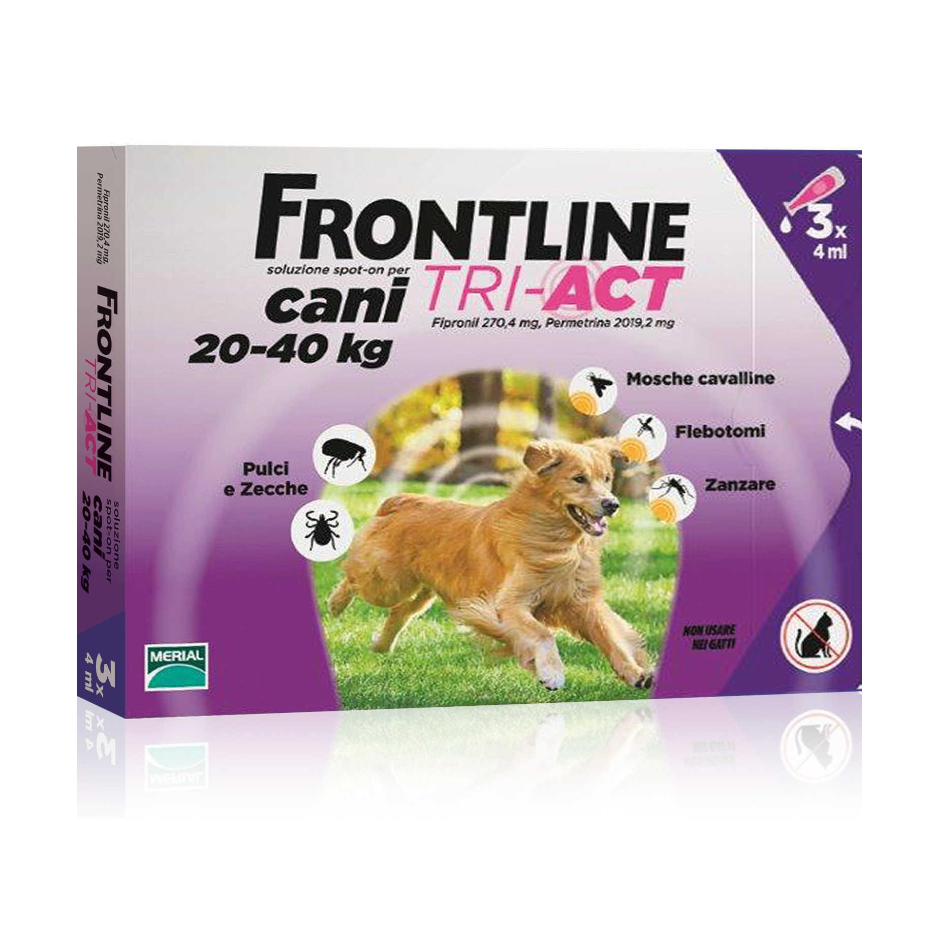 Frontline Combo - Tri Act - Soluzione Antipulci - Cani 20-40 kg