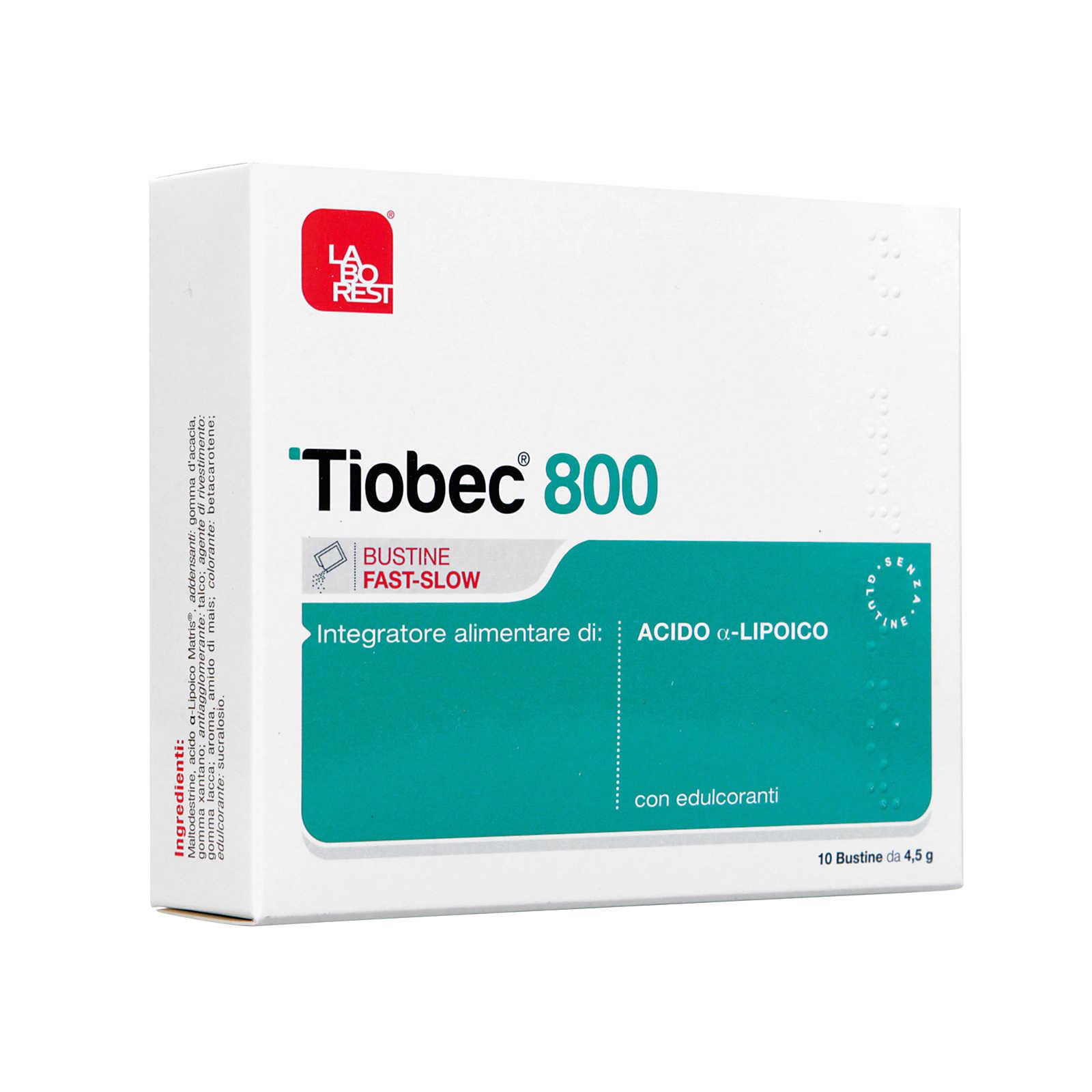 Tiobec - Integratore Alimentare - 800 Bustine Fast Slow