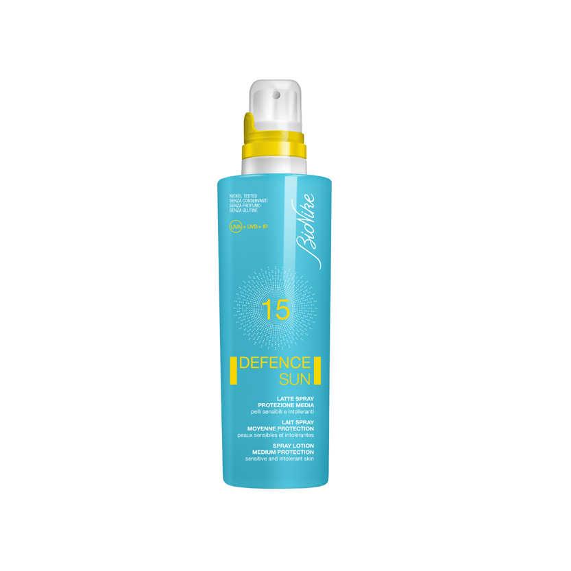 Bionike - Defence Sun - Latte protezione solare spray SPF15