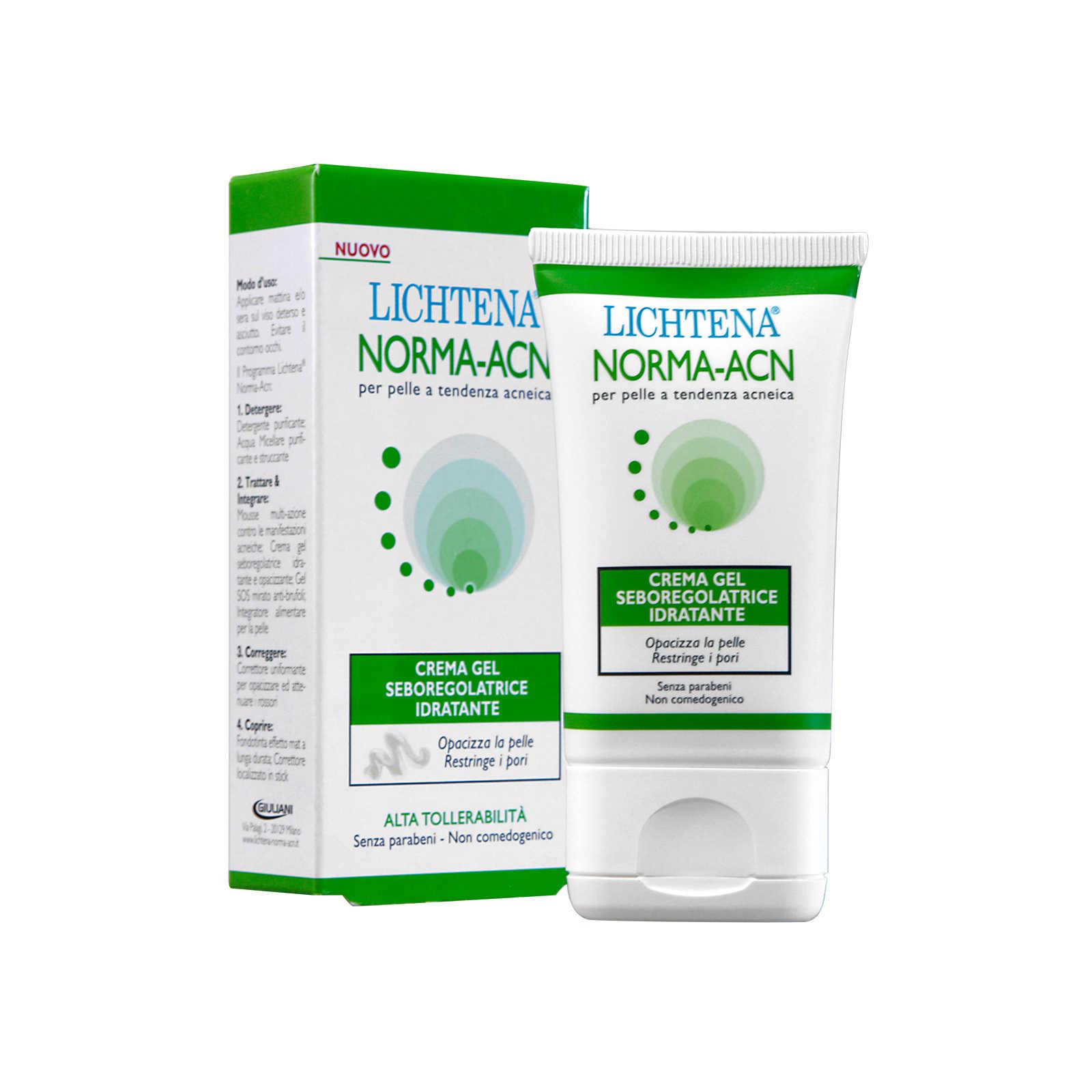 Lichtena - Crema Gel seboregolatrice idratante - Norma-Acn