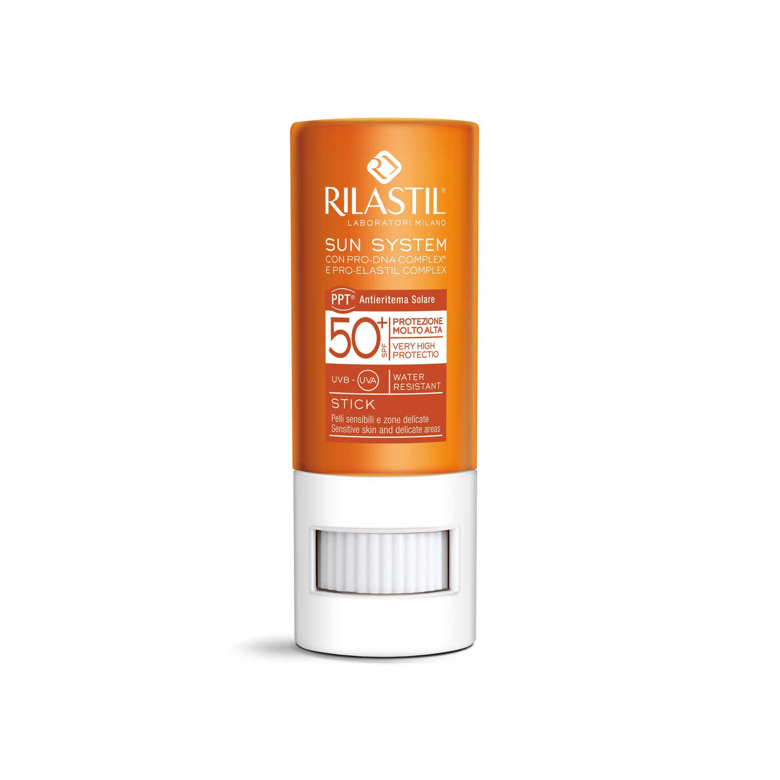 Rilastil - Stick protezione solare per la protezione della pelle del viso 50+ - Sun System
