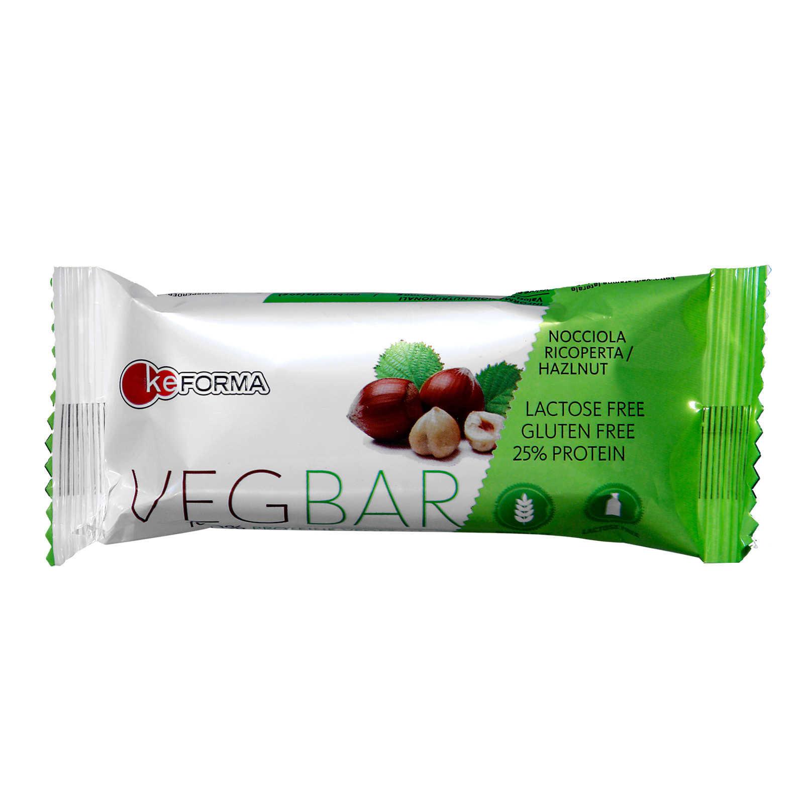 Keforma - Integratore Aliementare con Proteine Vegetali - Veg Bar - Nocciola