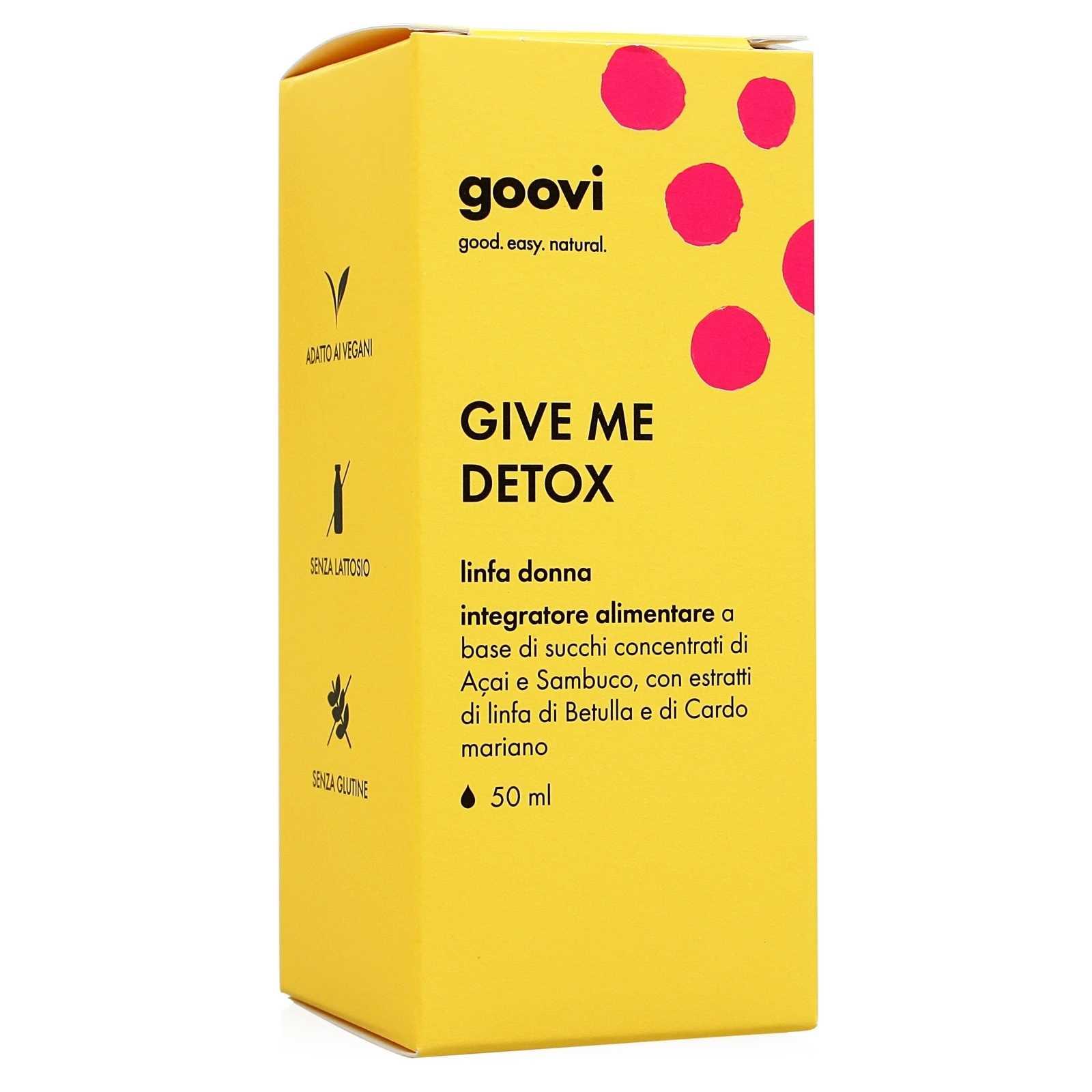 Goovi - Give Me Detox - Linfa Donna - Integratore Alimentare