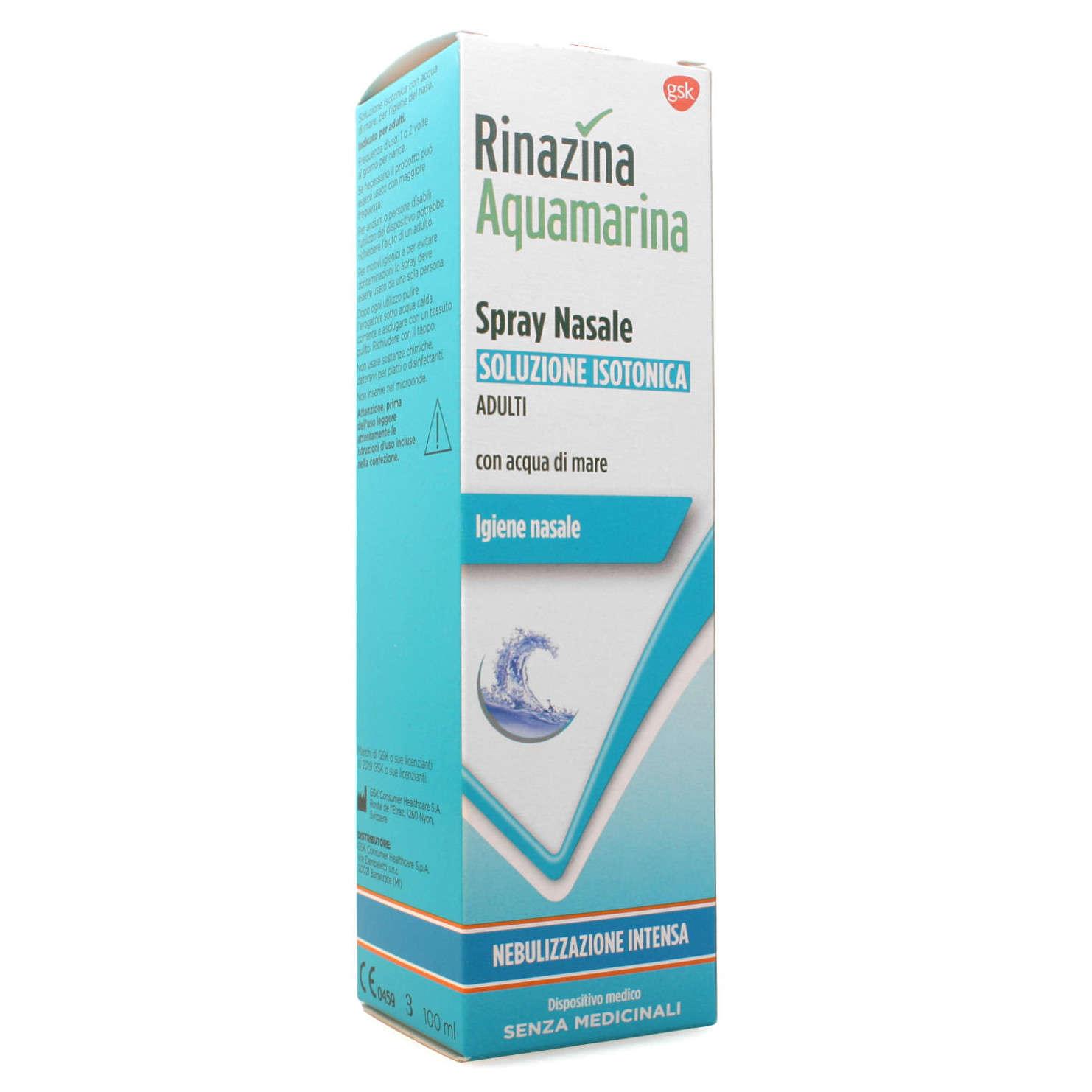 Rinazina - Aquamarina - Soluzione Isotonica con Acqua di mare - Nebulizzazione intensa