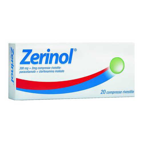 Zerinol - ZERINOL*20CPR RIV 300MG+2MG