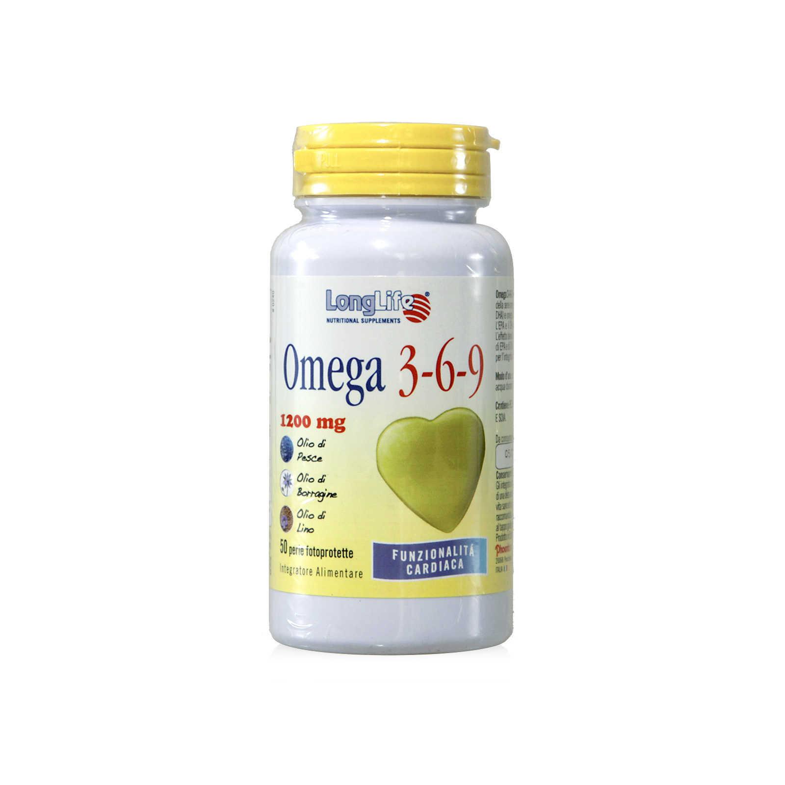 Longlife - Integratore Alimentare con Omega 3-6-9