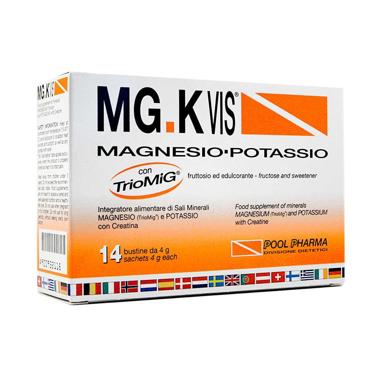 Mg-k Vis - Integratore con Creatina - 14 bustine