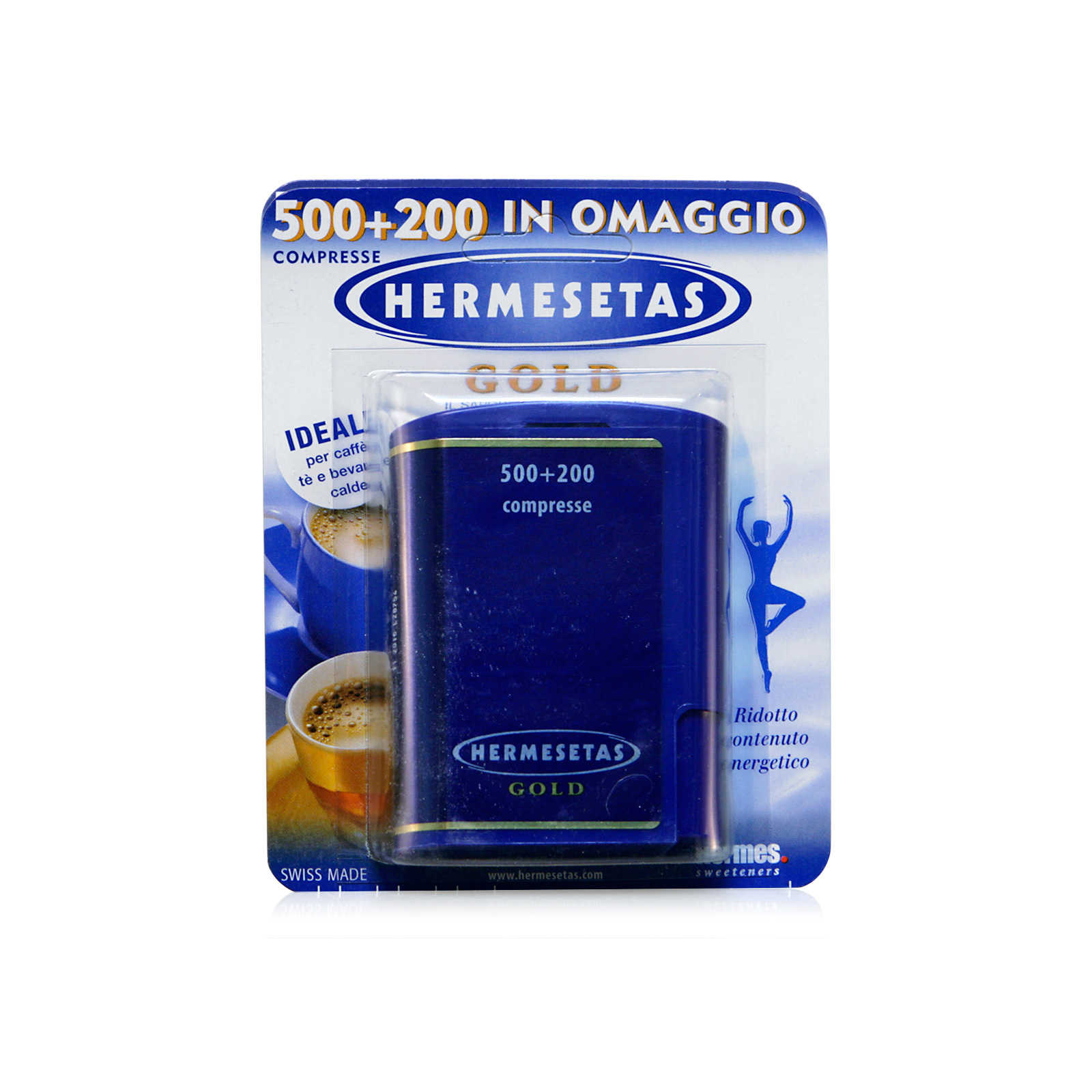 Hermesetas - Integratore alimentare Gold - 500 + 200 Compresse