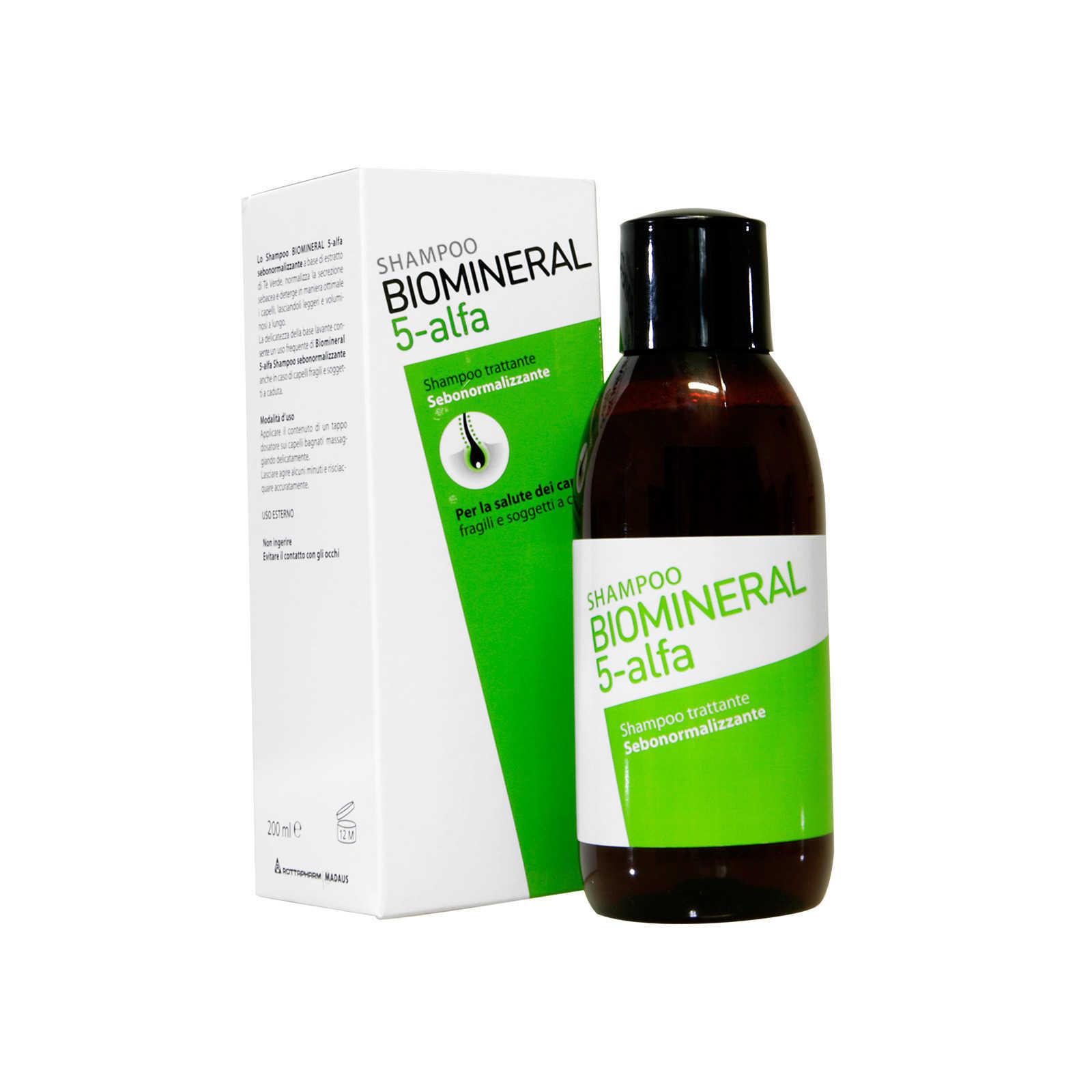 Biomineral - 5-alfa - Shampoo sebonormalizzante