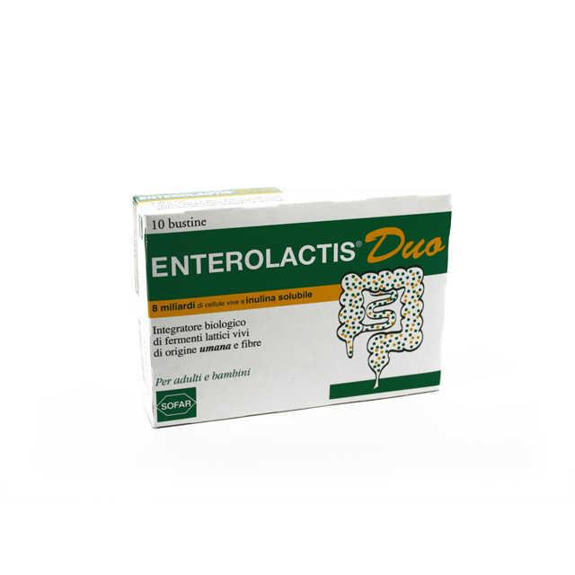 Enterolactis - Duo - Integratore Biologico - 10 bustine