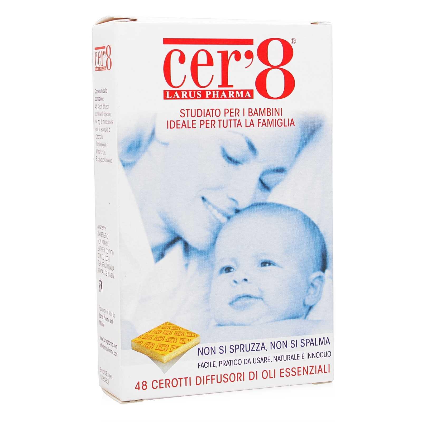 Larus Pharma - Cer'8 - Cerotti diffusori di oli essenziali