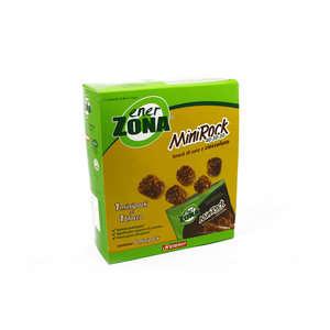 Enerzona - Integratore Alimentare - Snack di soia e cioccolato - Mini Rock - 5 Minipack