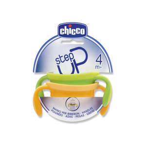 Chicco - Step Up - Manici per Biberon - Verde e Giallo