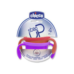 Chicco - Step Up - Manici per Biberon - Fragola e Lilla