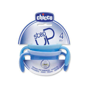 Chicco - Step Up - Manici per Biberon - Blu e Acqua