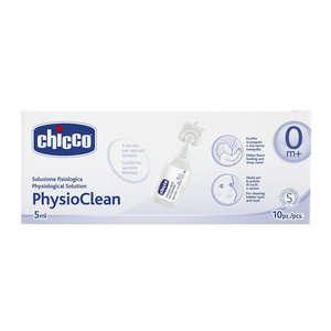 Chicco - Flaconcini monouso per la deterzione e la protezione del naso - PhysioClean - Fisiologica Sterile - Flaconcini da 5ml