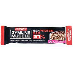 Enervit - Barretta Alimentare con Proteine al 37% - Gusto Cioccolato Fondente - Gymline Muscle