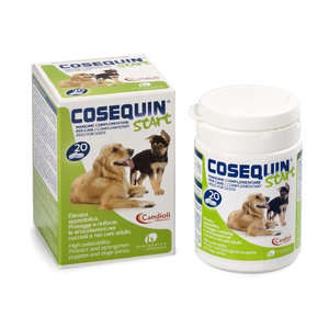 Candioli - Mangime complementare per cani - Cosequin Start - 20 Compresse