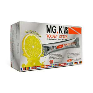 Mg-k Vis - Integratore Alimentare - Pocket Stick - Gusto Limone