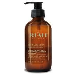 Riàh Sicilia - Timo + Basilico - Shampoo Uso Frequente - Capelli Grassi