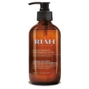 Riàh Sicilia - Acqua Termale con Minerali Attivi - Shampoo Trattante Forfora Grassa
