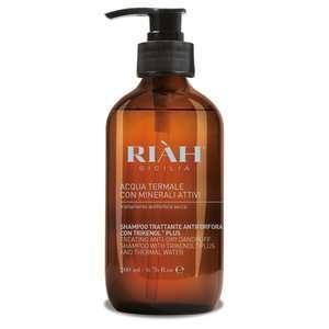 Riàh Sicilia - Acqua Termale con Minerali Attivi - Shampoo Trattante Forfora Secca