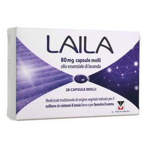 Laila - Capsule molli - Olio essenziale di Lavanda 80mg - 28 capsule