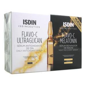 Isdin - Flavo-C Ultraglican + Melatonin - Sieri Giorno e Notte