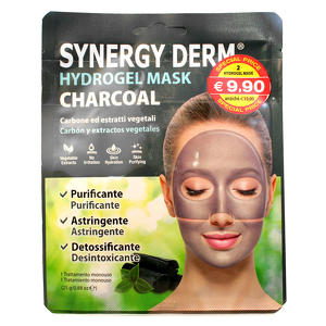 Synergy Derm - Hydrogel Mask Charcoal - Carbone ed estratti vegetali