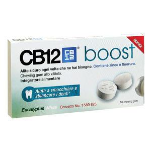 Cb12 - Boost Eucalyptus White - Chewing Gum