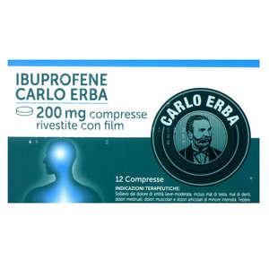 Ibuprofene - IBUPROFENE C ERBA*12CPR 200MG