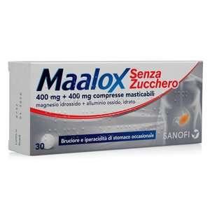 Maalox - 30 compresse masticabili - Senza zucchero