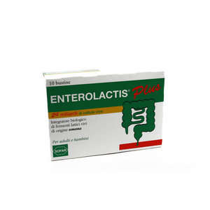 Enterolactis - Integratore biologico di fermenti lattici vivi Plus - 10 bustine